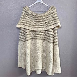 Free People Sweater Chunk Knit Off Shoulder